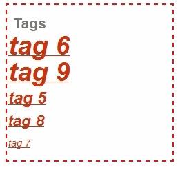 tag list