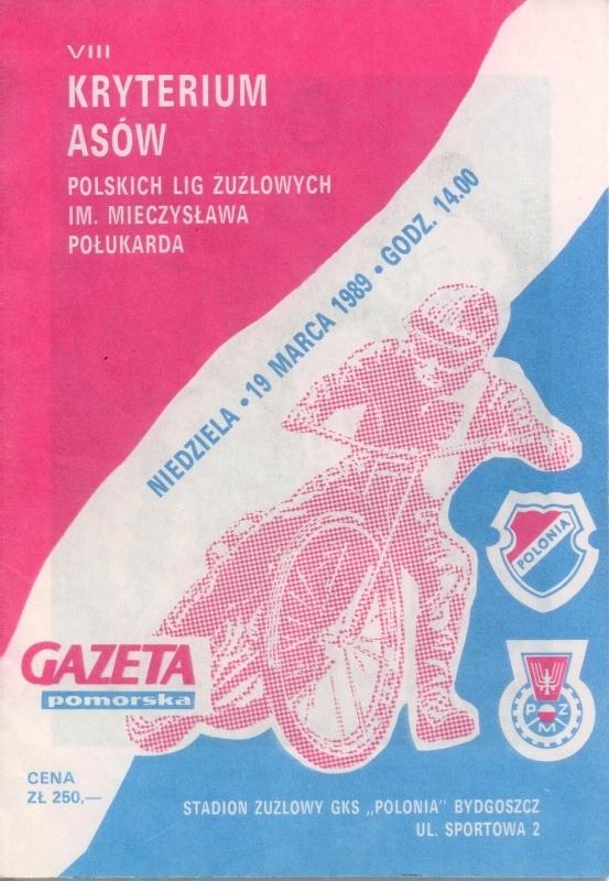 Program zawodów 1989