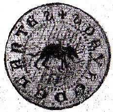 Odcisk pieczęci Debrzna z XV wieku
