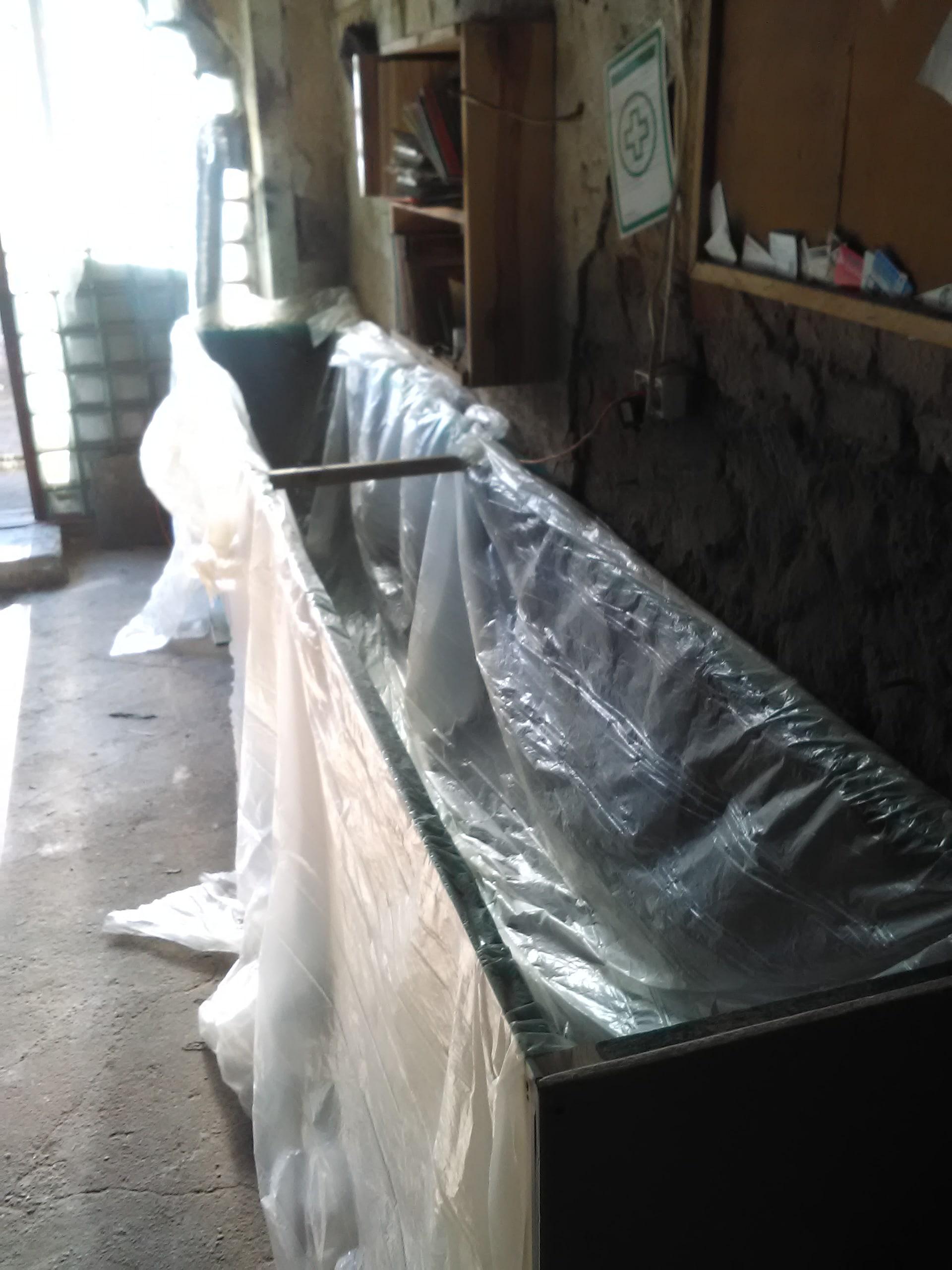 izolacja folią w komorze suszarniczej warsztatowej