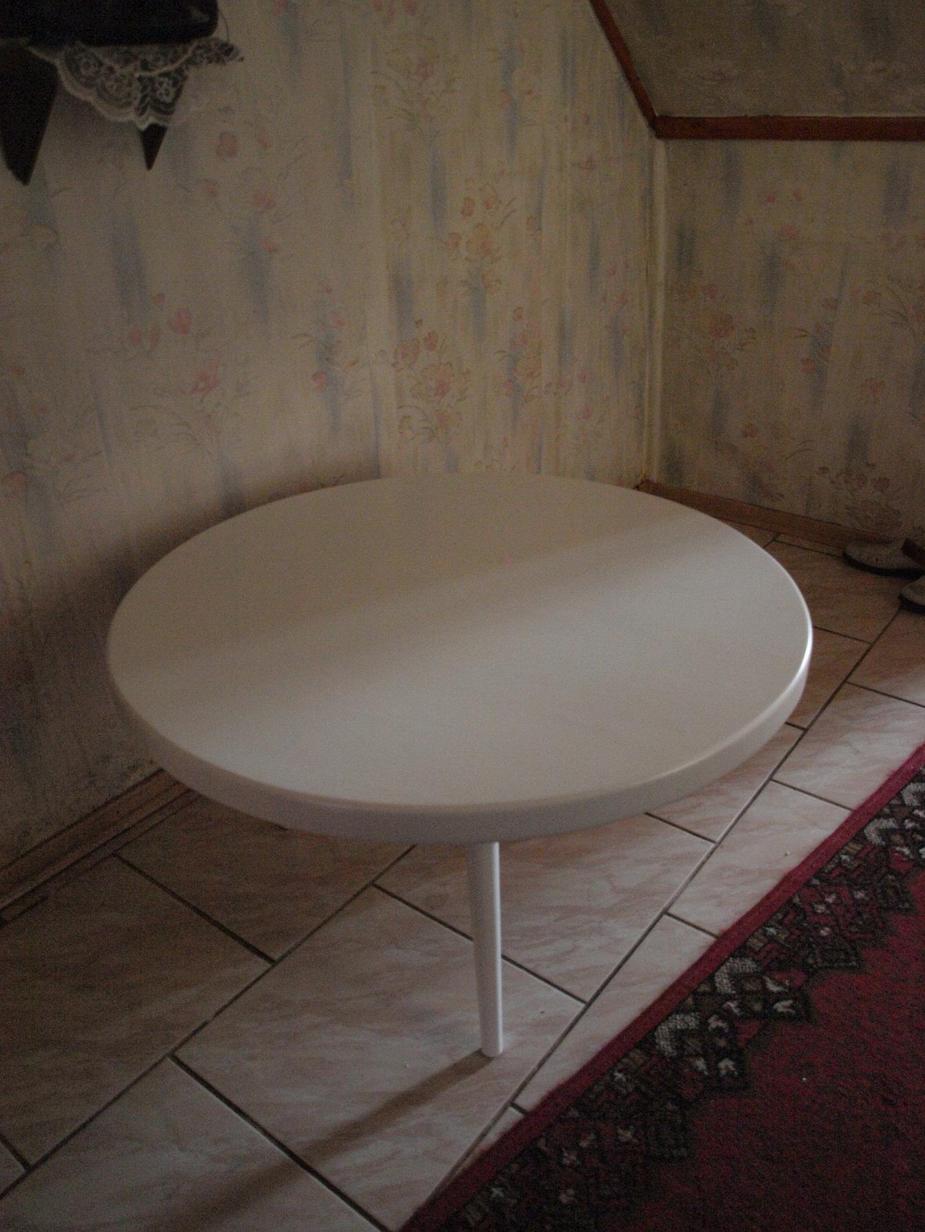 stolik kawowy biały drewno wrocław